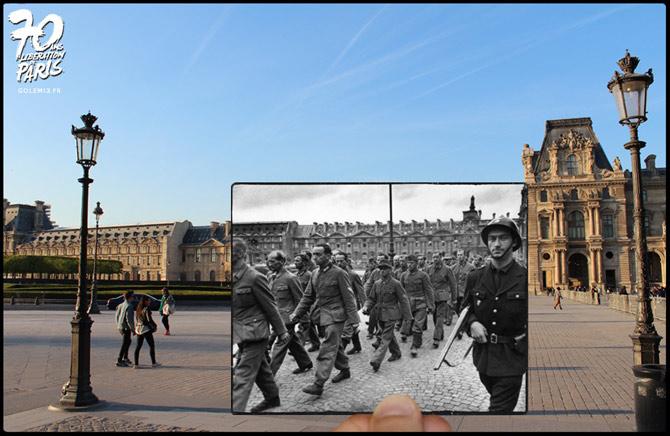 38-Paris-Liberation-1944-Louvre-cour