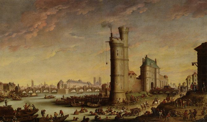 Tour-de-Nesle-The-Pont-Neuf-and-the-Isle-de-la-Cite-by-Hendrik-Mommers