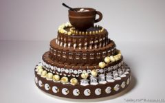 Калейдоскопный шоколадный торт