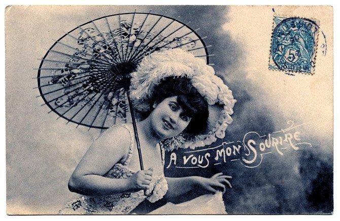 parasol+lady